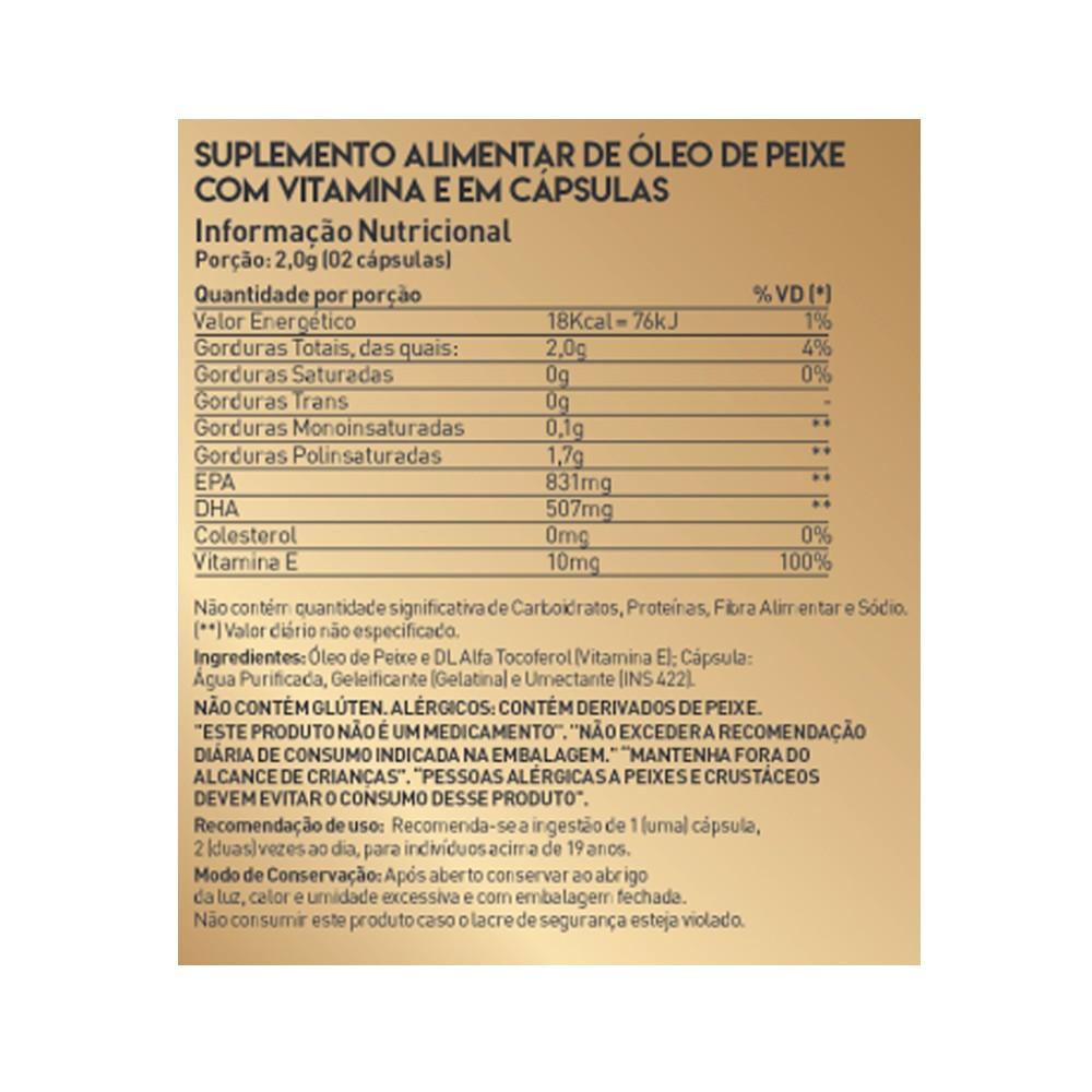 Ômega 3 com Vitamina E 60 cápsulas True Source