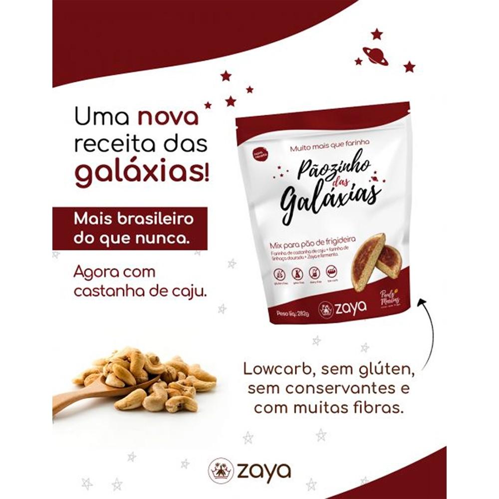 Pãozinho das Galáxias Nova Receita Pão de Frigideira Sem Gluten 282g Zaya