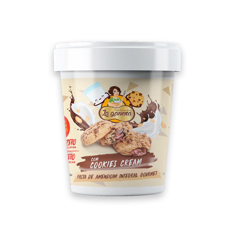 Pasta de Amendoim Integral Cookies Cream Sem Gluten 1kg La Ganexa