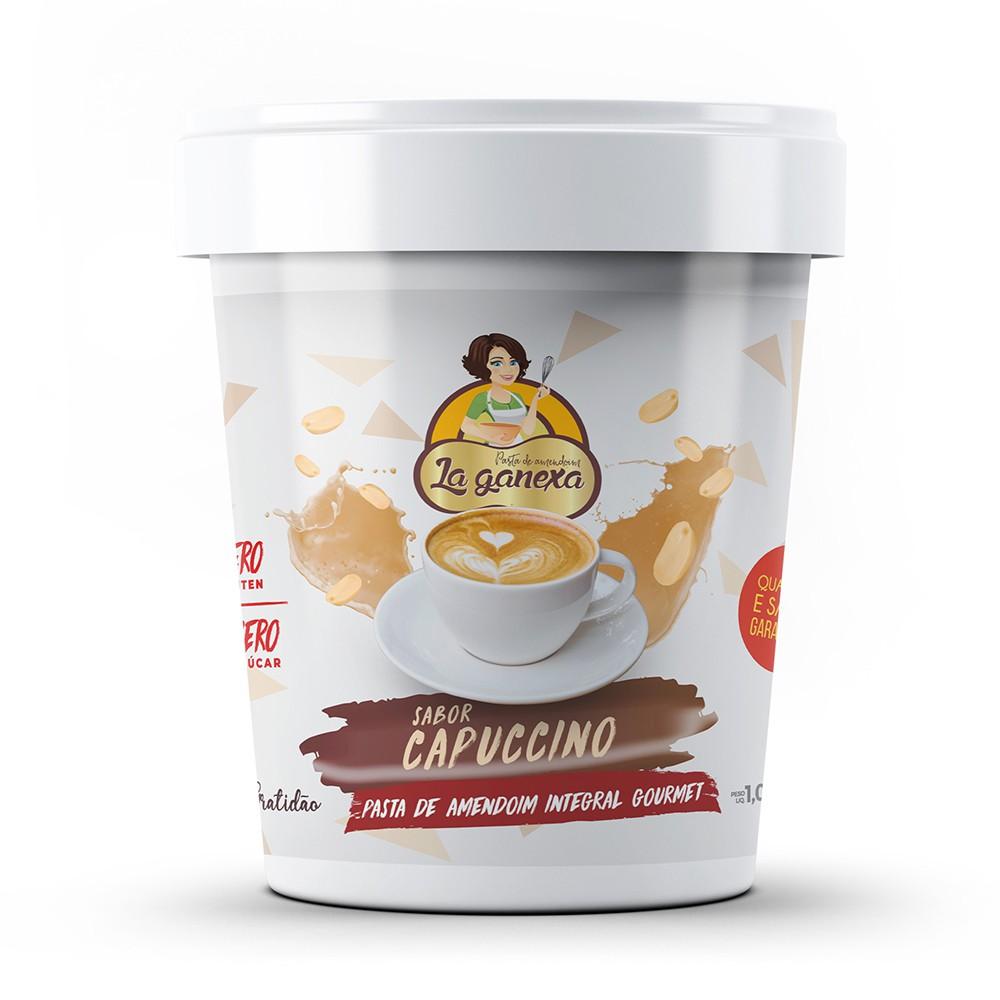 Pasta de Amendoim Integral Gourmet Capuccino 1kg La Ganexa
