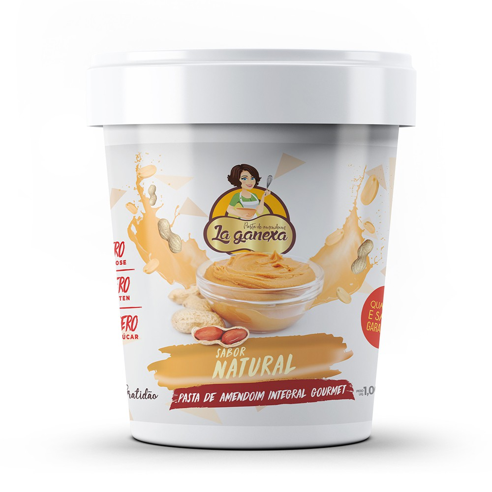 Pasta de Amendoim Integral Gourmet Natural 1kg La Ganexa