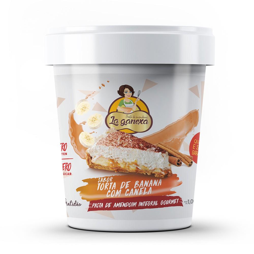 Pasta de Amendoim Integral Gourmet Torta de Banana com Canela 1kg La Ganexa