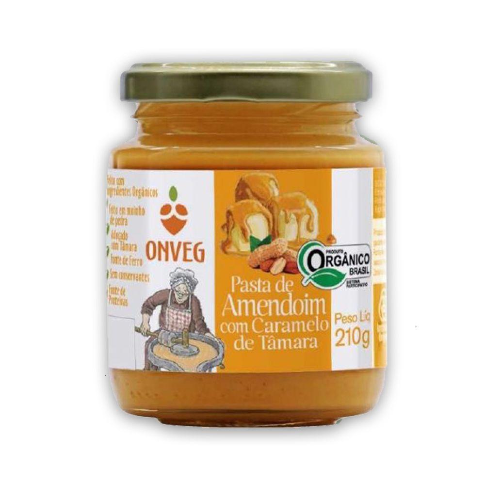 Pasta de Amendoim Orgânico com Caramelo de Tâmara 210g Onveg