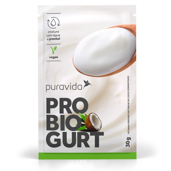 Probiogurt Creme de Coco 3 Saches de 30g Probióticos - Puravida