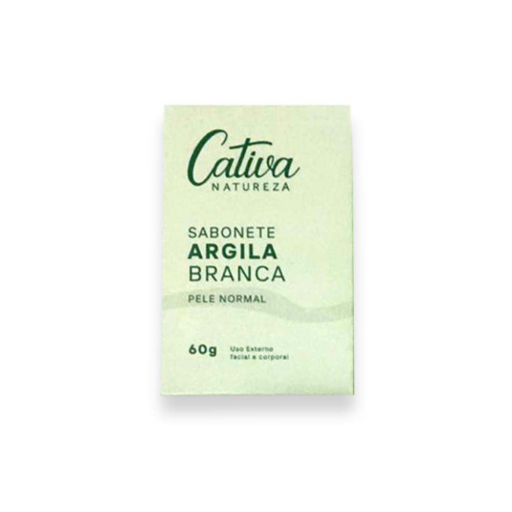 Sabonete Vegetal de Argila Branca Pele Normal 60g Cativa Natureza
