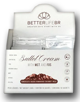 Display Bullet Cream com MCT 16 Saches de 15g - Better Life
