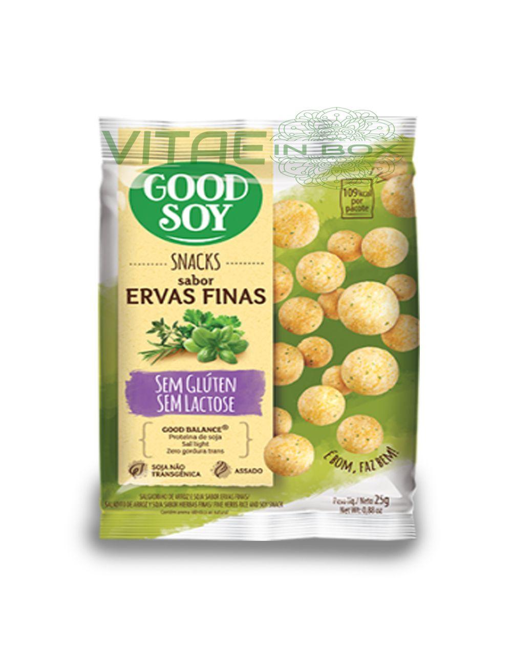 Snack Ervas Finas Sem Glúten Sem Lactose 25g - GoodSoy