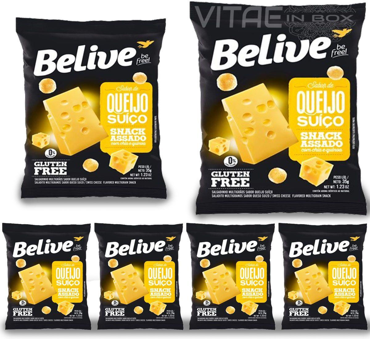 Snack Queijo Suiço Sem Glúten Sem Lactose 06un. de 35g - Belive