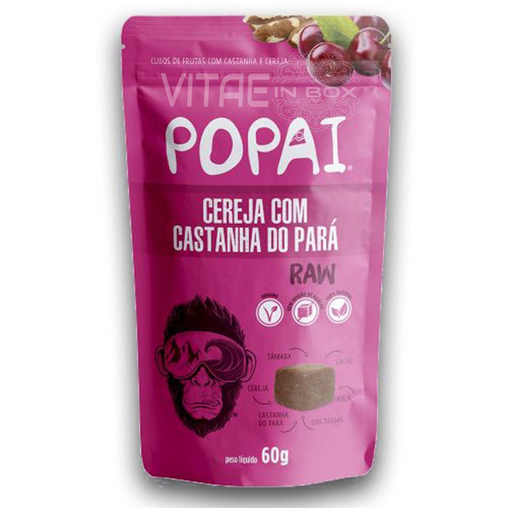 Snack RAW sabor Cereja com Castanha do Pará 60g - Popai - Alimento Cru