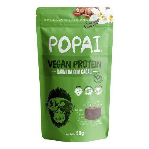 Snack Vegan Protein sabor Baunilha com Cacau 50g - Popai
