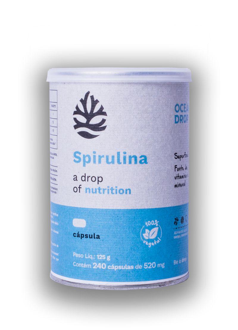 Spirulina 240 cápsulas - Ocean Drop