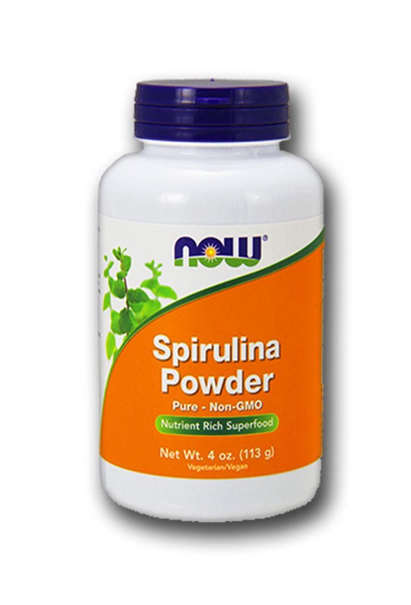 Spirulina em Pó Premium 113g Rico em Vitamina A e B12 - Now Foods