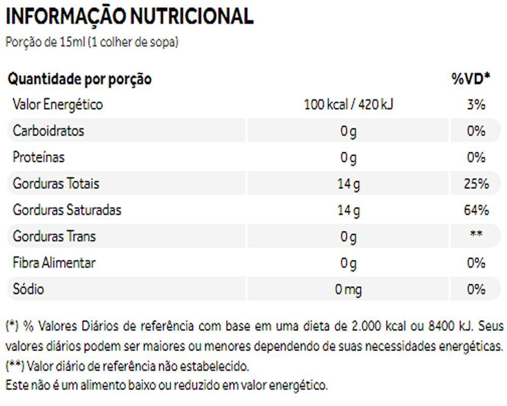 TCM Lótus Óleo de Coco Concentrado 500ml -Puravida