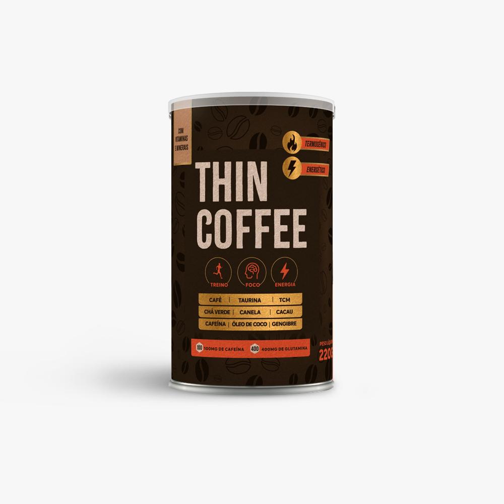 Thin Coffe Café com TCM e Vitaminas Energia Foco Imunidade 220g Vila Alimentos