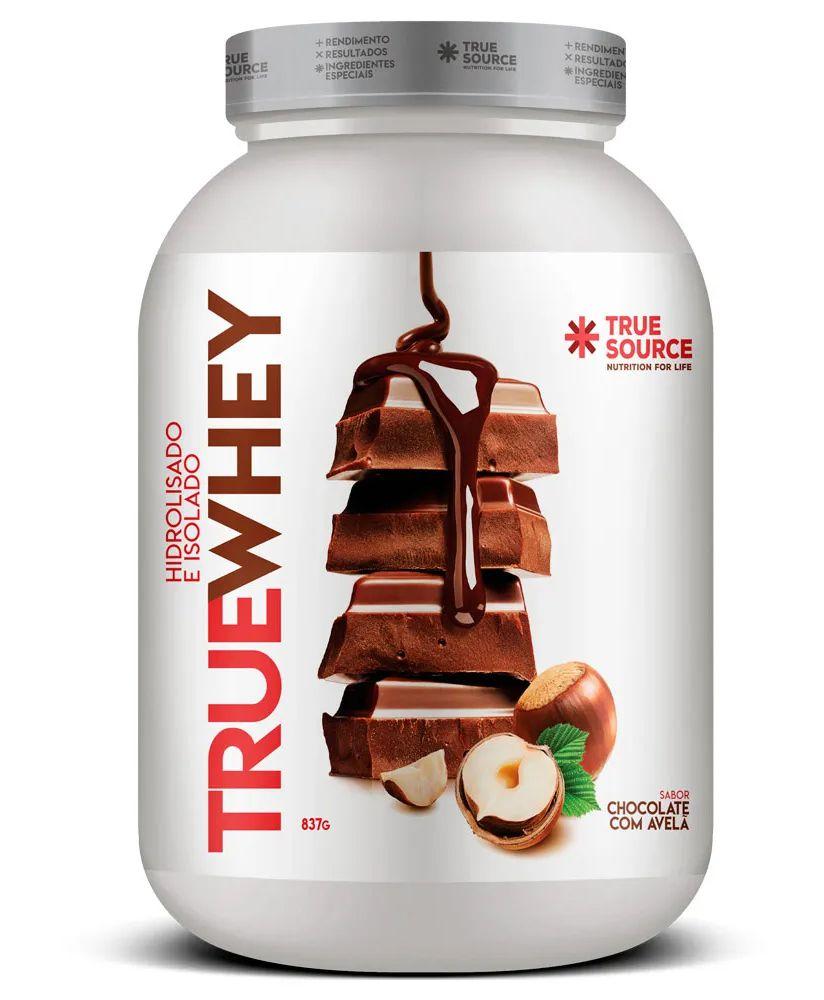 True Whey Chocolate com Avelã Proteína Hidrolisada e Isolada com Colágeno 837g - True Source