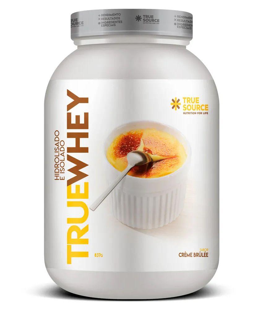 True Whey Vanilla Creme Brulee Proteína Hidrolisada e Isolada com Colágeno 837g - True Source