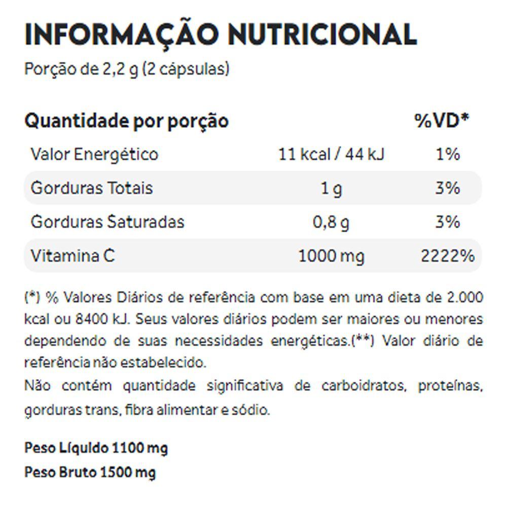 Vitamina C Lipossomal 60 cápsulas Puravida