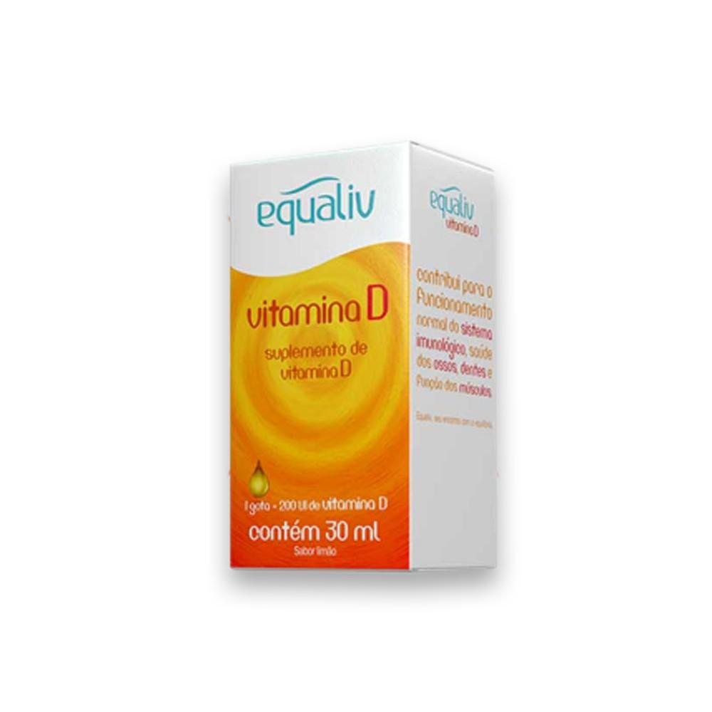 Vitamina D3 200UI por gota Sabor Limão 30ml Equaliv