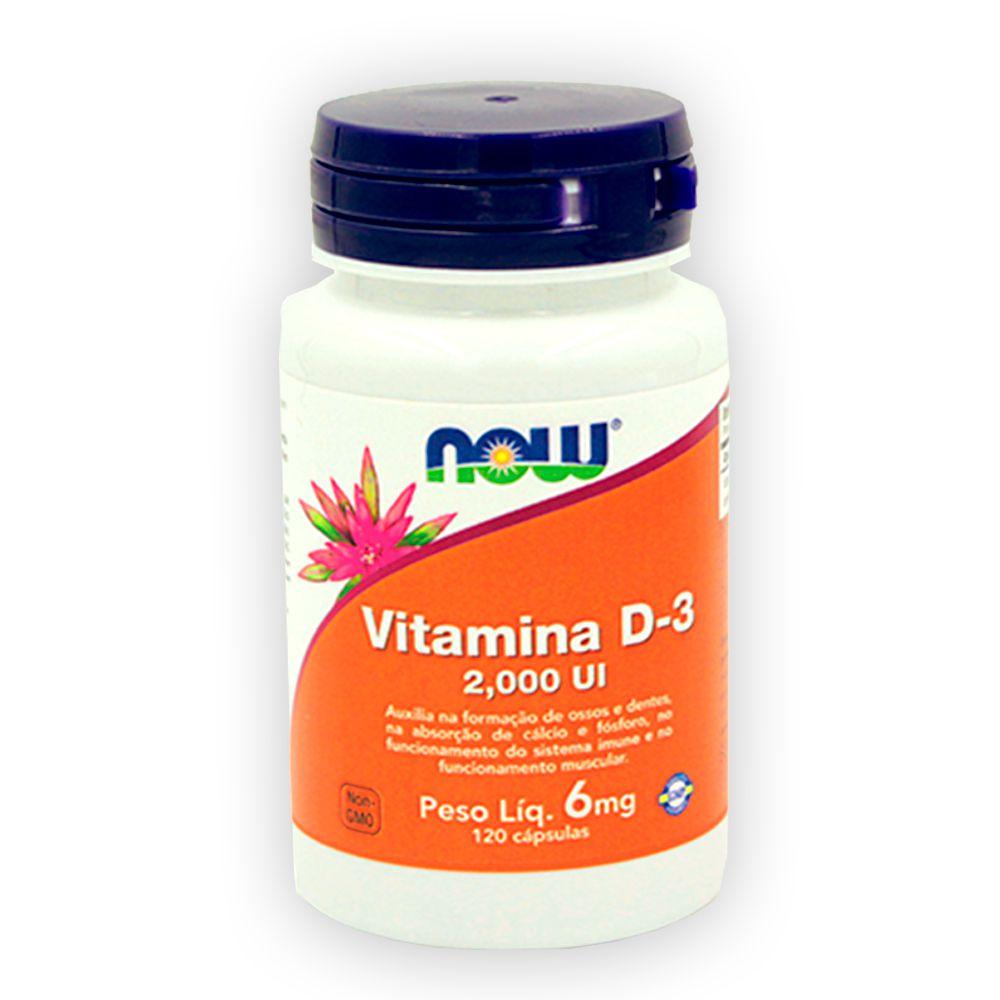 Vitamina D 3 2000ui 120 cápsulas NOW