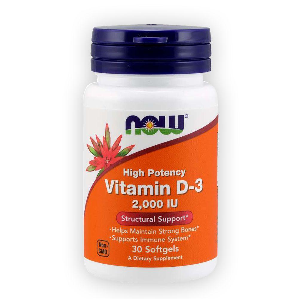 Vitamina D 3 2000ui 30 cápsulas NOW