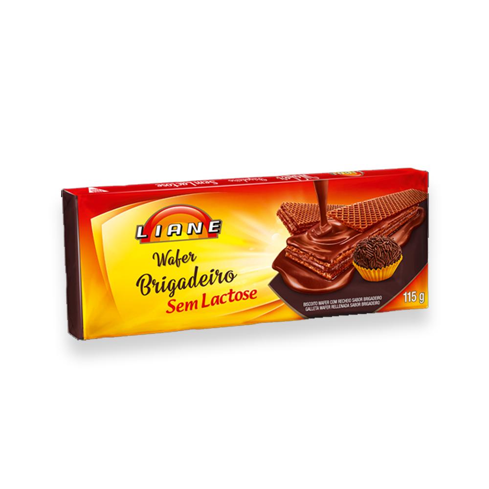 Biscoito Wafer Brigadeiro Sem Lactose 115g Liane