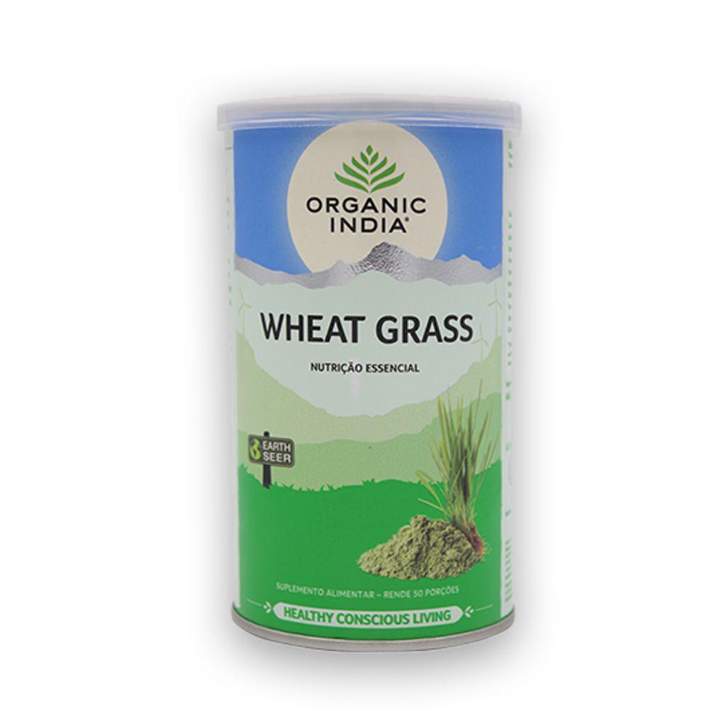 Wheat Grass Grama de Trigo em Pó Imunidade e Energia 100g Organic India