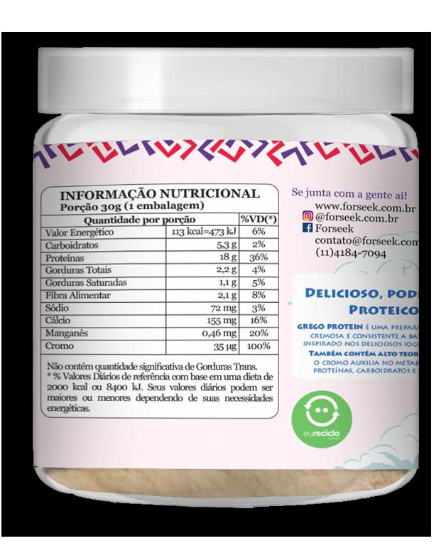 Whey Grego Protein Morango 30g - Forseek