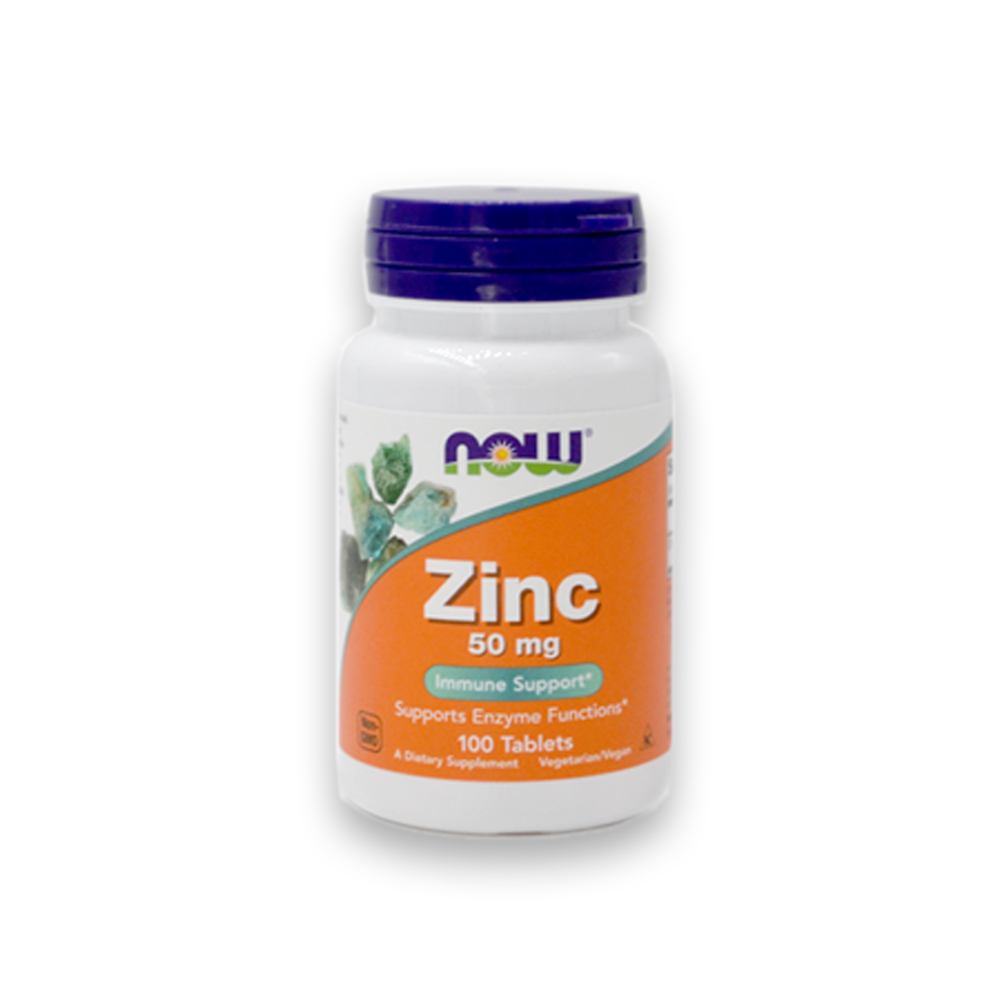 Zinco 50mg 100cáps NOW
