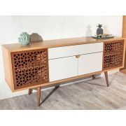 BUFFET ORION 1,80 PAD CINAMOMO OFF WHITE/FOSCO