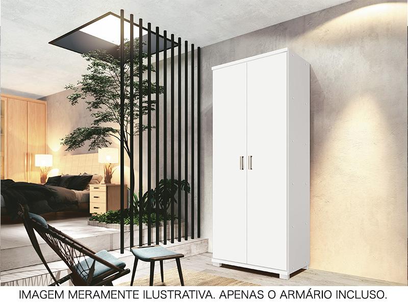 ARMÁRIO NEW MULTIUSO 02 PTS C/PRAT PAD BRANCO
