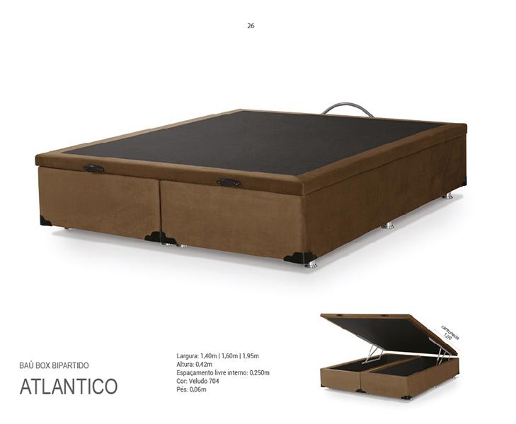 BOX BAÚ ATLÂNTICO 1,93X2,03 BI PARTIDO VELUDO MARRON 04