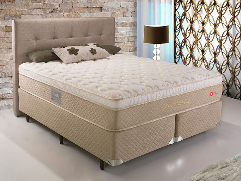 CAMA BOX NEW PLATINUM 1,58m COM MOLAS ENSACADAS