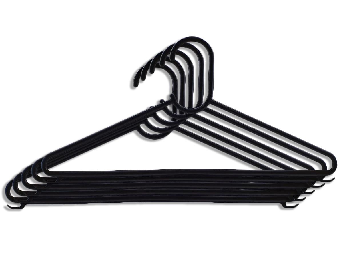 10 Cabides de Plástico Adulto Reforçado Com Cavas Resistente Para Roupas Pesadas