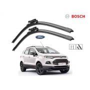 Jogo Palheta Dianteira Limpado Para-brisa Bosch Ford Ecosport 2013 a 2017