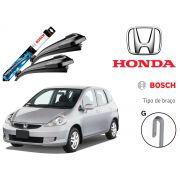 Jogo Palheta Dianteira Bosch Honda Fit 2014 a 2019