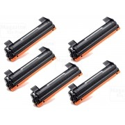 KIT 5 TONER COMPATÍVEL COM BROTHER TN1060 | DCP1602 DCP1512 DCP1617NW HL1112 HL1202 HL1212W