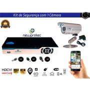 Kit Cftv 1 Câmera Convencional com Dvr 4ch 5x1 Full Hd