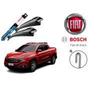 Jogo Palheta Dianteira Limpado Para-brisa Bosch Fiat Toro 2016 a 2018