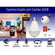 LAMPADA ESPIÃ + SD 32GB