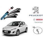 Jogo Palheta Dianteira Limpado Para-brisa Bosch Peugeot 308 2012 a 2018