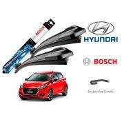 Jogo Palheta Dianteira Limpado Para-brisa Bosch Hyundai HB20 Hb20s Hb20x