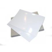 Papel Foto Adesivo Glossy A4 115G Branco Brilhante Resistente À Água / 20 Folhas