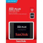 SSD Sandisk Plus 120GB Sata III 6GB/s 2,5 Pol 7mm