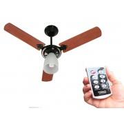 Ventilador De Teto Corpo Preto com controle remoto 110V/127V