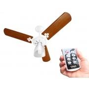 Ventilador de Teto Venti Delta 3 Pás Mogno Corpo Branco 110/127V Com Controle Remoto