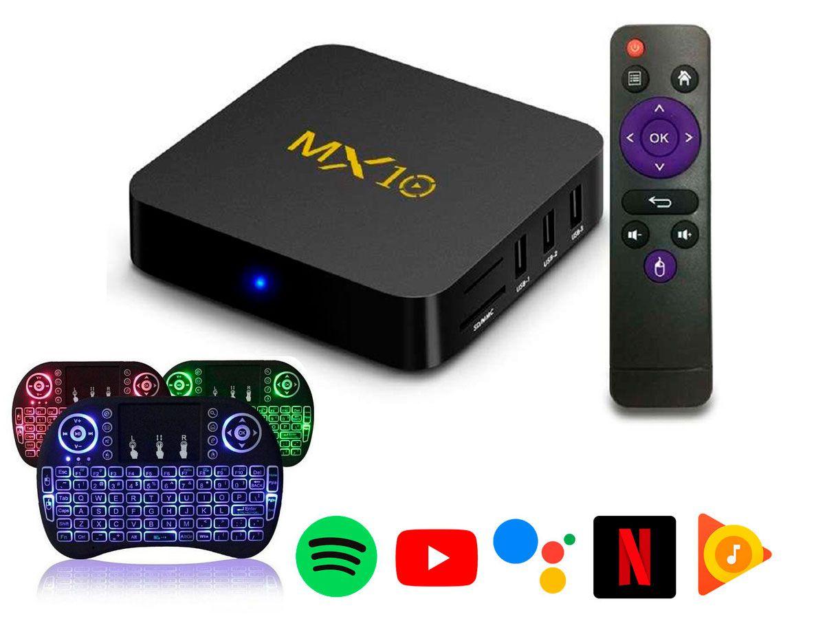Box Android 9.1 Smartv  - Tv 4K  - 64gb e 4gb Ram + Controle