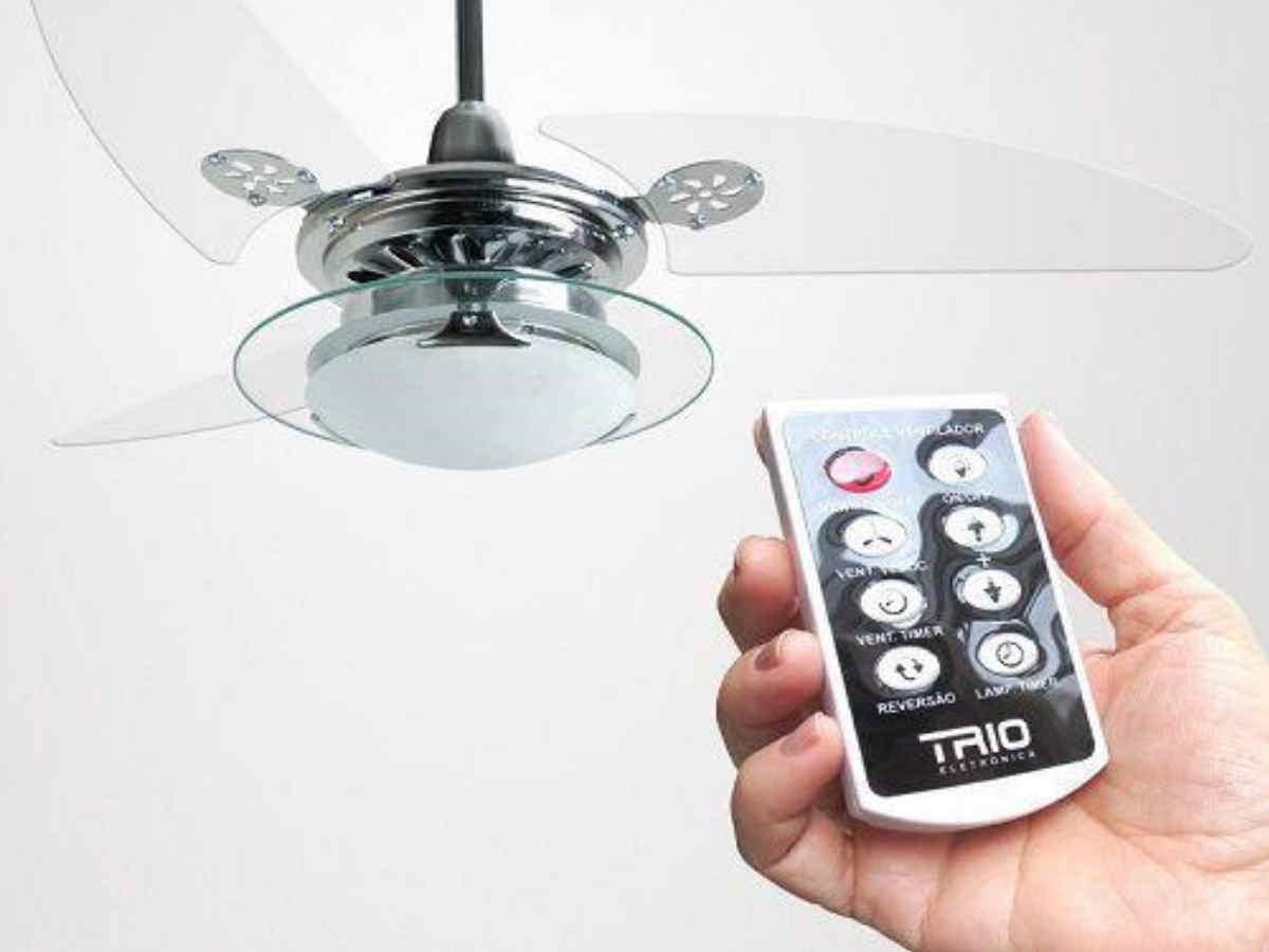 Controle Remoto Para Ventilador Teto/parede E Luz Com Dimmer Trio