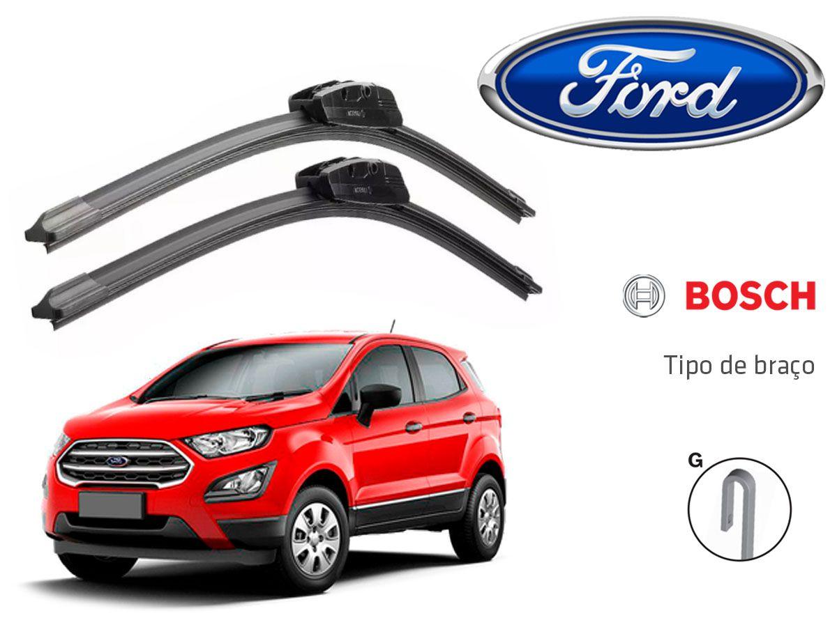 Jogo Palheta Dianteira Limpado Para-brisa Bosch Ford Ecosport 2018 A 2020