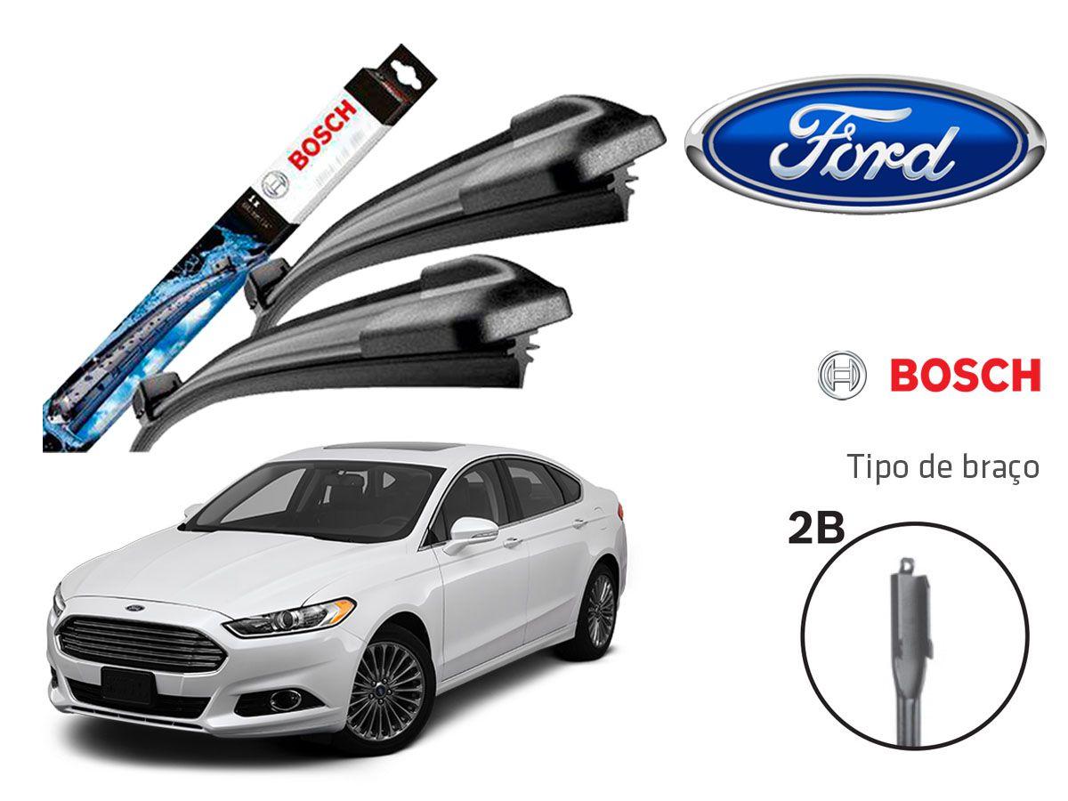 Jogo Palheta Dianteira Bosch Ford Fusion 2013 a 2017
