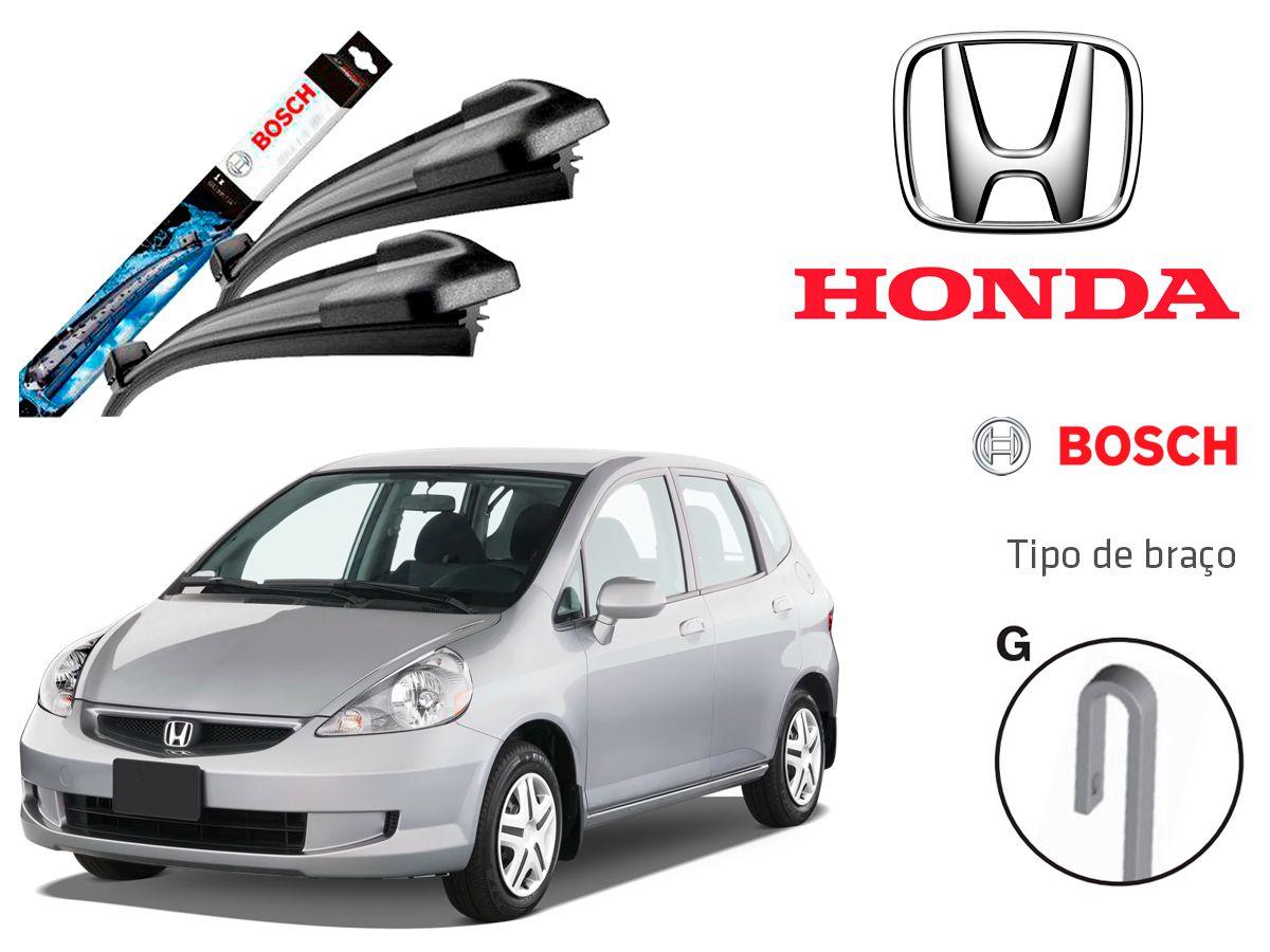 Jogo Palheta Dianteira Bosch Honda Fit 2014 a 2017